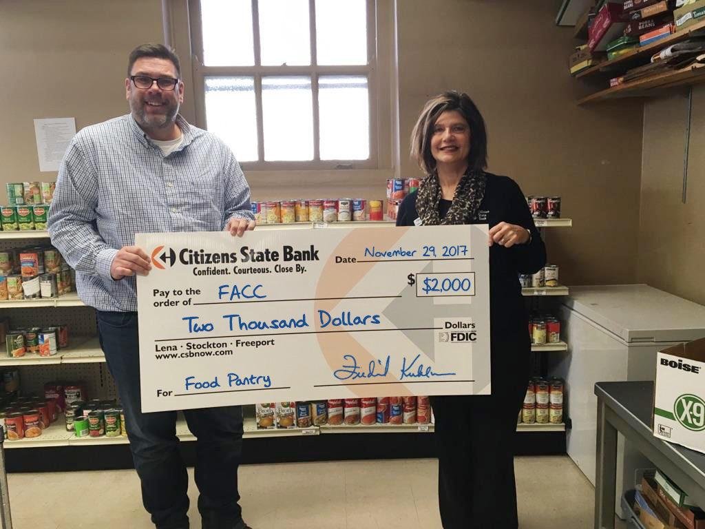 Freeport Area Church Cooperatitive Donation